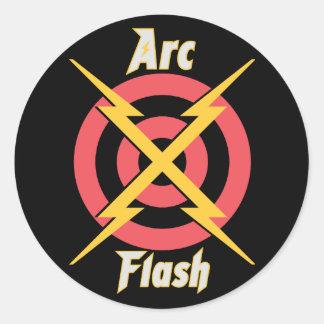 Arc Flash Round Sticker