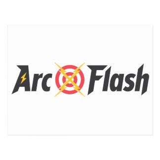 Arc Flash White Postcard