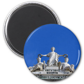 Arc of the August Street, Lisbon, Portugal 6 Cm Round Magnet