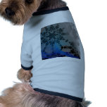 Arc Wave Abstract Pattern Pet T Shirt
