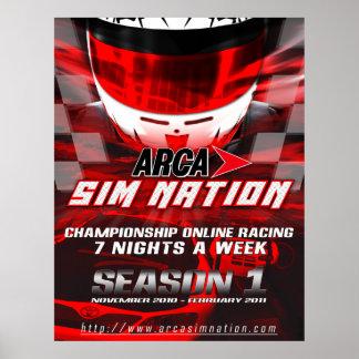 Arca Sim Nation Season 1 Poster