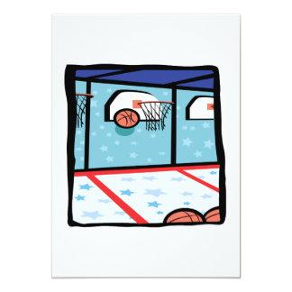 "Arcade Basketball 5"" X 7"" Invitation Card"