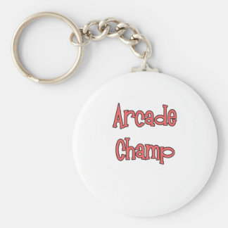 Arcade Champ by Chillee Wilson Basic Round Button Key Ring