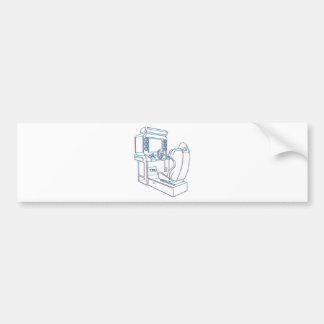 Arcade Driver Car Bumper Sticker