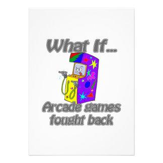 arcade games personalized invites