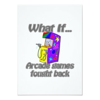 "arcade games 5"" x 7"" invitation card"