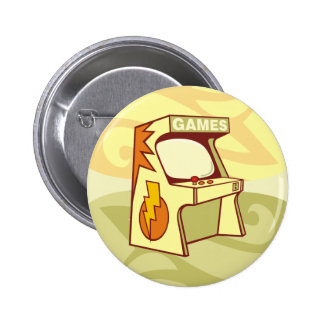 Arcade machine 6 cm round badge