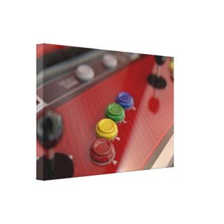 Arcade Machine Control Panel Canvas Print