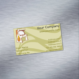 Arcade machine magnetic business cards