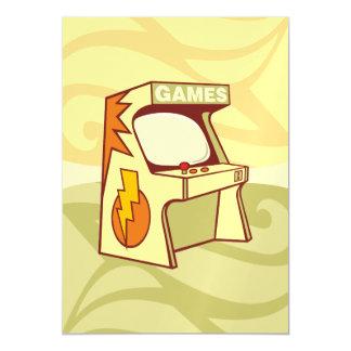 Arcade machine magnetic invitations