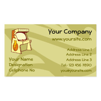 Arcade machine pack of standard business cards