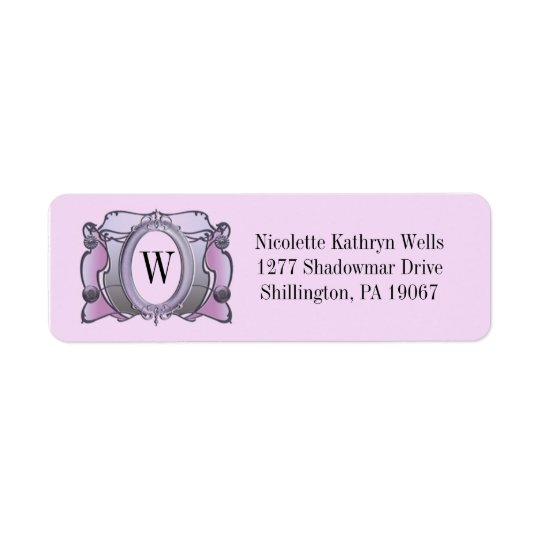 Arcade - Pretty Plum - Address Labels