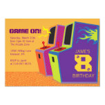 "Arcade Video Game Birthday Party Invitations 5"" X 7"" Invitation Card"
