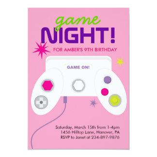 "Arcade Video Game Birthday Party Invites 5"" X 7"" Invitation Card"