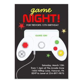 "Arcade Video Games Birthday Party Invitation 5"" X 7"" Invitation Card"