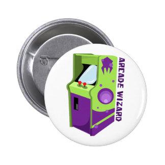 Arcade Wizard 6 Cm Round Badge
