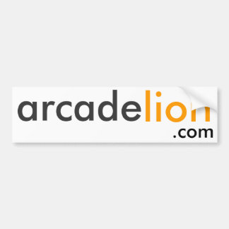ArcadeLion.com White Bumpersticker Car Bumper Sticker