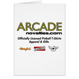 ArcadeNovelties.com Pinball Greeting Card