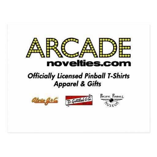 ArcadeNovelties.com Pinball Postcards