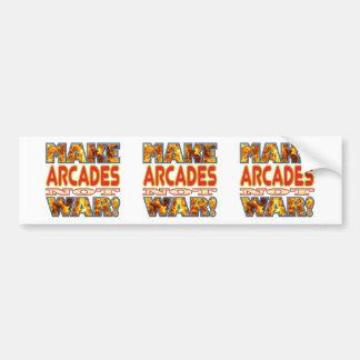Arcades Make X Bumper Sticker