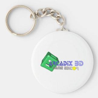 Arcadix 3D Game Editor Basic Round Button Key Ring