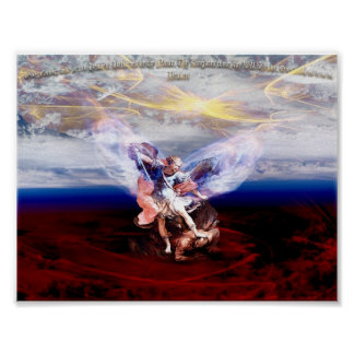 Arch Angel Michael Conquers Poster
