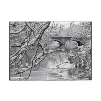 Arch Bridge over Frozen River in Winter Cover For iPad Mini