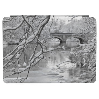Arch Bridge over Frozen River in Winter iPad Air Cover