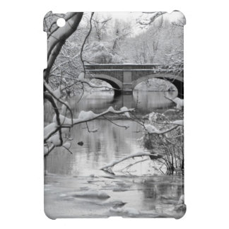 Arch Bridge over Frozen River in Winter iPad Mini Cover