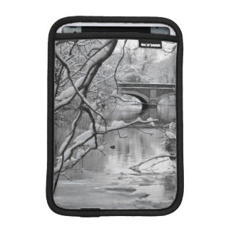 Arch Bridge over Frozen River in Winter iPad Mini Sleeve