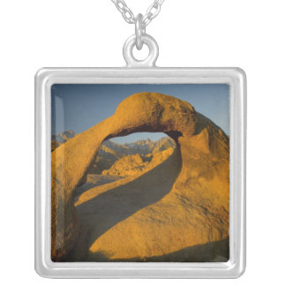 Arch in Alabama Hills Eastern Sierras near Lone Silver Plated Necklace