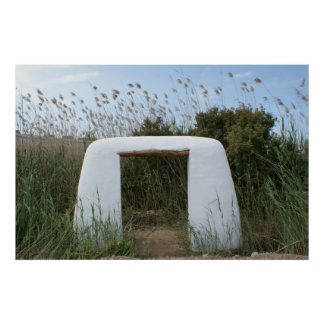 Arch in Field Poster