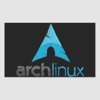 Arch Linux Logo Rectangle Sticker
