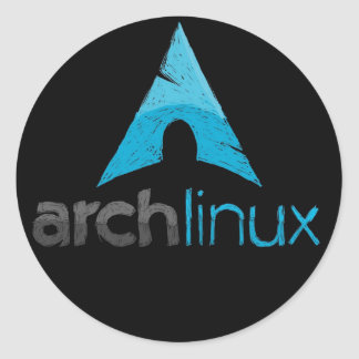 Arch Linux Logo Classic Round Sticker