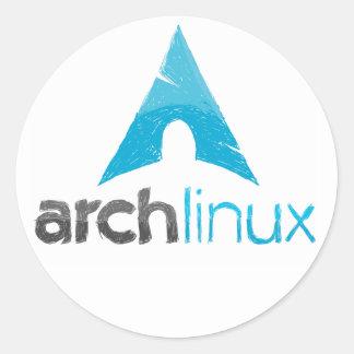 Arch Linux Logo Round Sticker