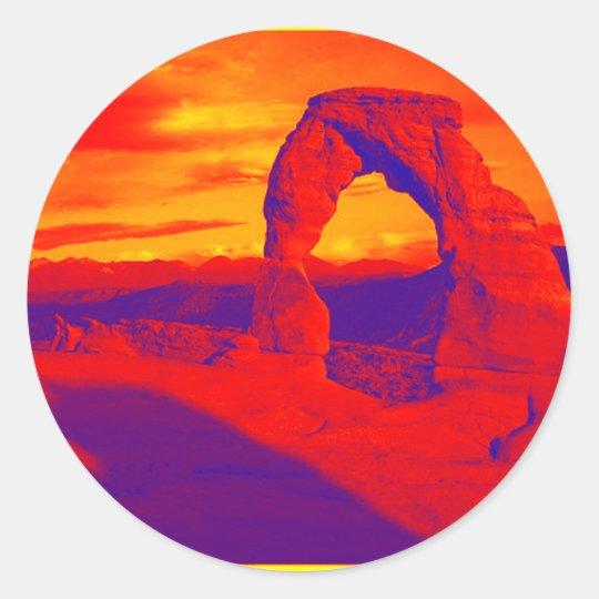Arch Magical Classic Round Sticker