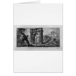 Arch of Augustus, manufactured by Rimini by Giovan Greeting Card