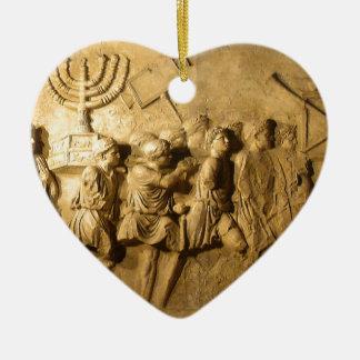 Arch of Titus Ceramic Heart Decoration