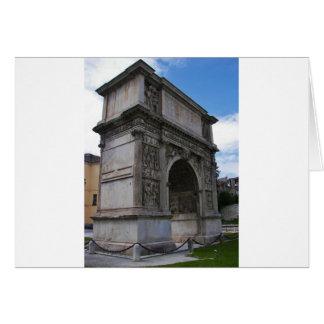 Arch of Trajan. Card