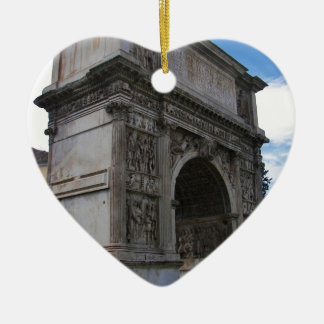 Arch of Trajan. Ceramic Heart Decoration