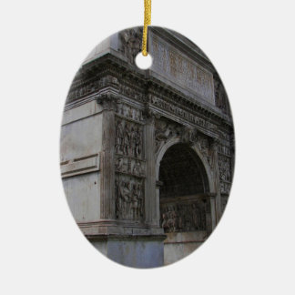 Arch of Trajan. Ceramic Oval Decoration