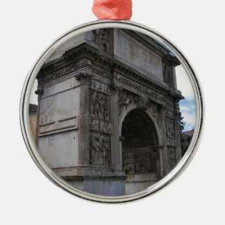Arch of Trajan. Silver-Colored Round Decoration