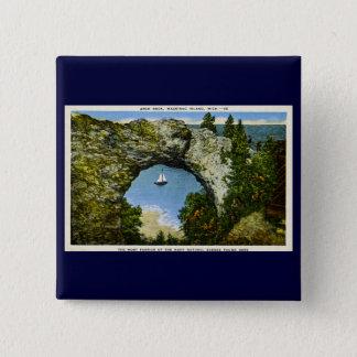 Arch Rock Mackinac Island, Michigan 15 Cm Square Badge