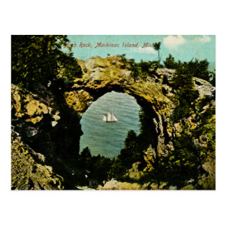 Arch Rock Mackinac Island, Michigan 1911 Postcard