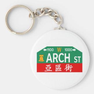 Arch Street, Philadelphia, PA Street Sign Key Chain
