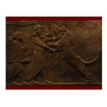 Archaeological Find: Assyrian Lion Hunt Fresco, Post Cards
