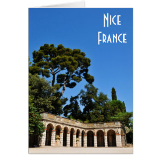 Archaeological site on top of Castle Hill in Nice Card