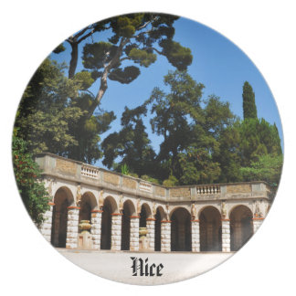 Archaeological site on top of Castle Hill in Nice Party Plates