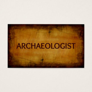 Archaeologist Antique Brushed Business Card