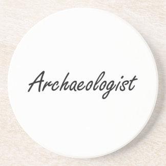 Archaeologist Artistic Job Design Coaster